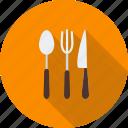 cutlery, fork, kitchen, knife, silverware, spoon, utensil