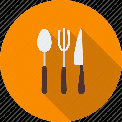 cutlery, fork, kitchen, knife, silverware, spoon, utensil icon