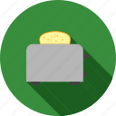 bread, breakfast, food, kitchen, meal, toast, toaster icon