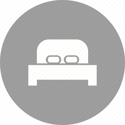 bed, bedding, bedroom, furniture, mattress, pillows, sleep icon