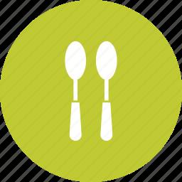 cutlery, set, silverware, spoon, tablespoon, tableware, teaspoon icon