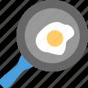 cooking, kitchen, pan, telur, telur goreng icon