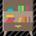 belongings, bookshelf, furniture, households