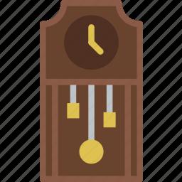 belongings, clock, furniture, households, vintage icon