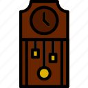 belongings, clock, furniture, households, vintage icon