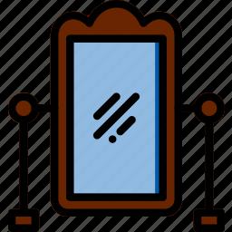 belongings, furniture, households, mirror icon