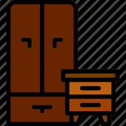 belongings, furniture, households, wardrobe icon