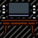 belongings, households, desk, work, furniture