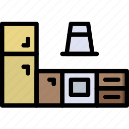 belongings, furniture, households, kitchen icon