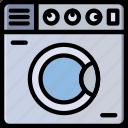 belongings, households, machine, washing, furniture