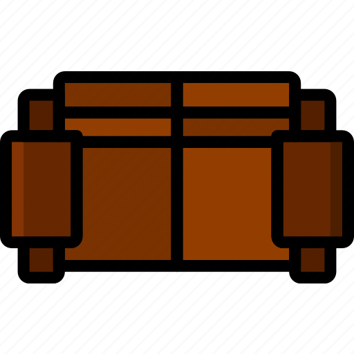 belongings, furniture, households, sofa icon