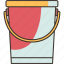 bucket, container, water, equipment, household