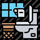 bathroom, flush, hygiene, sanitary, toilet