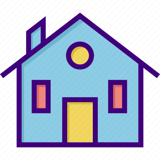building, estate, home, house, interior, property, real icon