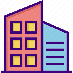 apartment, building, business, city, construction, house, office icon