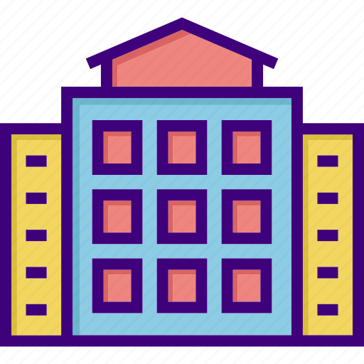 building, business, construction, courthouse, home, house, office icon