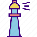 bulb, energy, house, light, lighthouse, power, tower icon