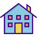 apartment, building, estate, home, house, property, real icon