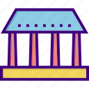 bank, building, court, courthouse, finance, house, office icon