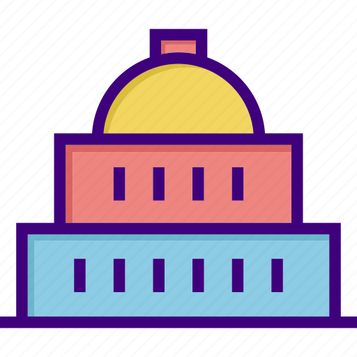 architecture, building, government, home, house, office, property icon