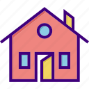 building, door, home, house, interior, open door, open house icon