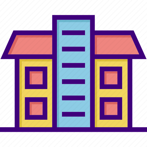 apartment, architecture, building, home, house, office, property icon