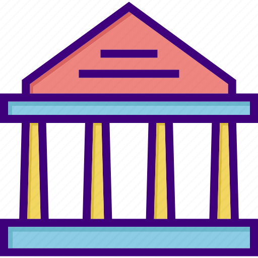 bank, building, courthouse, estate, finance, house, office icon
