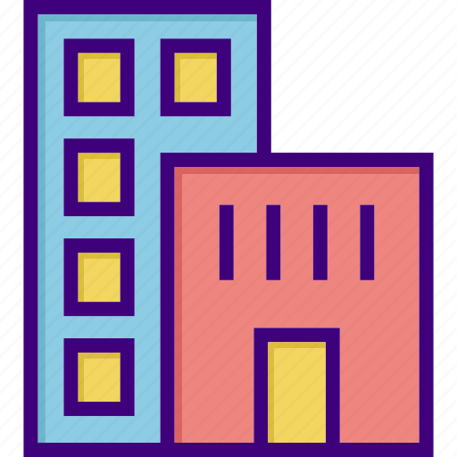 architecture, building, garage, hotel, house, office, property icon
