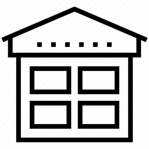 architecture, building, home, house, office, property, window icon