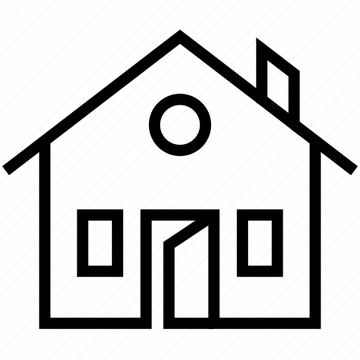 apartment, building, door, home, house, open door, open house icon
