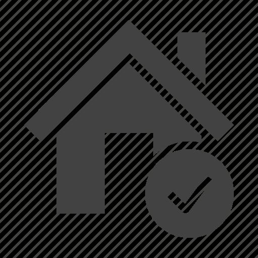 check, home, house, mark, ok icon