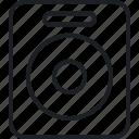 device, houseware, speaker icon