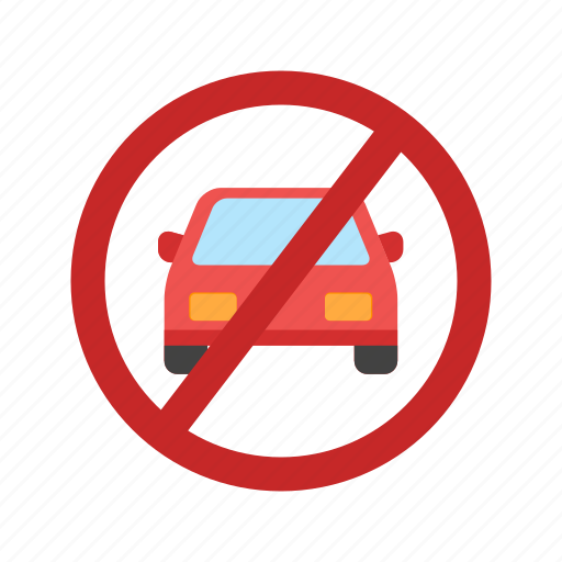 forbidden, no, parking, red, road, sign, street icon