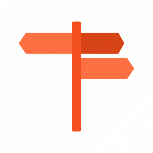arrow, guide, road, sign, street, traffic, way icon