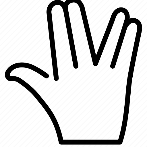 fingers, gesture, separate fingers icon