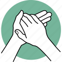 hands, palm, rubbing, sanitize icon