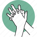 cleaning, fingers, hands, interlace, interlaced, rub, sanitize icon