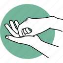 fingernails, correct, proper, hands, hygiene, fingers, sanitize icon