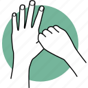 hand, cleaning, hands, sanitize, healthcare, clean, thumb icon