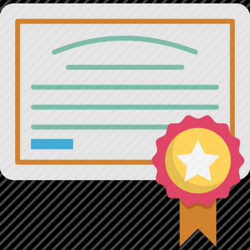 achievement, award, badge, certificate icon