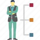 company, hierarchy, personnel, staff icon