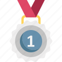 achievement, award, medal, pendant icon