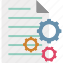 business paper, business plan, project plan, project strategy icon