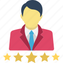 star rating, user ranking icon