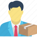 delivery boy, package, parcel, shipment icon