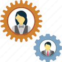company management, corporation, employees, management hierarchy icon