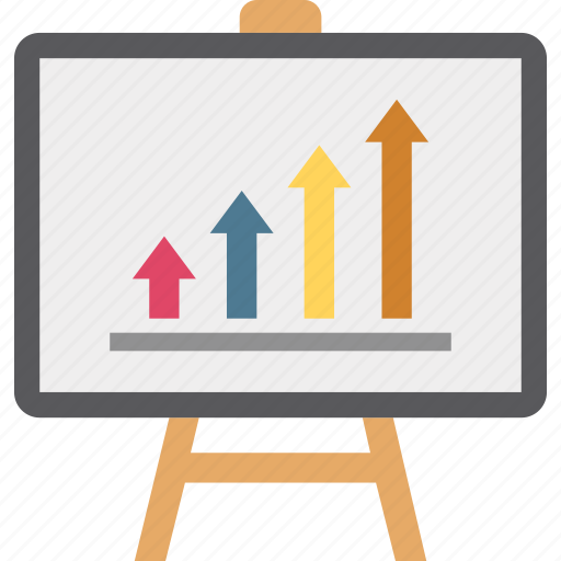 business analysis, business chart, business presentation, business report icon