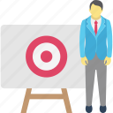 aim, business goals, business target, employee goals icon