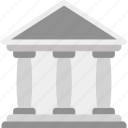 architecture, bank, building, central bank icon