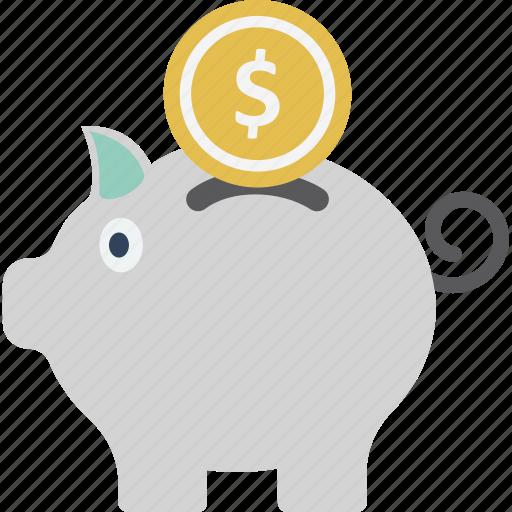 bank, coins, money box, piggy bank icon